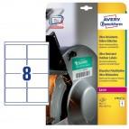 Etichette in polietilene per protezione e sicurezza - 99,1x67,7mm - laser - 10 fogli - Avery
