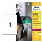 Etichette in polietilene per protezione e sicurezza - bianche - 210x297mm - laser - 10 fogli - Avery