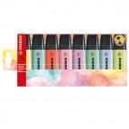 Astuccio 8 evidenziatori Stabilo Boss pastel 4+4 colori new