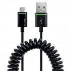 Cavo USB-M_MicroUSB-M 1 mt Spiralato Leitz - nero - 62230095