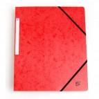 Cartelline con elastico a 3 lembi rosso 922951 5 Star (conf.10)