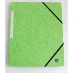Cartelline con elastico a 3 lembi verde 922978 5 Star (conf.10)