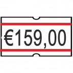 Etichette permanenti per Nuova smart 8 Printex - 21x12 mm - bianco/rosso - B10/2112RBPST (conf.10)
