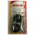 Fissaggio ferma porta Fischer - S 8 TS - nero - 504640 (conf.2)