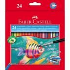 Astuccio matite acquerellabili Faber Castell - 3,3 mm - 114425 (conf.24)