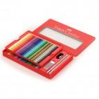Astuccio in metallo matite colorate Faber Castell - 3,0mm - 115888 (conf.48)