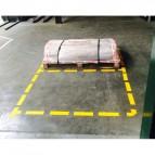 Stickers adesivi di sicurezza Tarifold - linea tratteggiata - 20x5 cm - giallo - B197104 (conf.10)