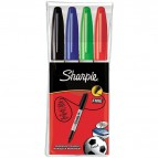 Marcatore permanente Sharpie Fine – 1mm  - assortiti - S0810970 (conf.4)