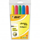 Evidenziatore a penna Bic Highlighter Grip - Assortito - 896055 (conf.5)