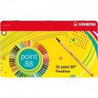 Fineliner point 88®  Stabilo - 0,4 mm - assortiti - 8850-6 (conf.50)