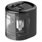 Temperamatite elettrico Rapesco - 2 fori - nero - 1449