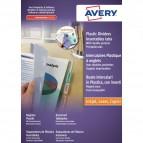 Buste intercalari in PPL doppia tasca Avery - A4+ - 6 tasti - 05621501