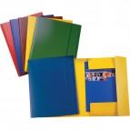 Cartelle 3 lembi in presspan Esselte - 25x35 cm - giallo - 390342090 (conf.5)