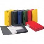 Scatola archivio Project King Mec - dorso 4 cm - 25x35 cm - giallo - 23306 (conf.5)