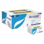 Asciugamani intercalati Lucart - Z - 2 veli - pura cellulosa - 23x23,5 cm - 864013 (conf.18)