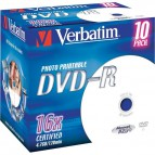 DVD Verbatim Verbatim - DVD-R - 4,7 Gb - 16x - Stampabile - Jewel case - 43521 (conf.10)
