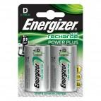 Pile ricaricabili Energizer - torcia - D - E300322000 (conf.2)