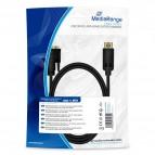 Cavo adattatore DisplayPort/DVI-D Mediarange - 2 m - nero - MRCS199