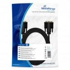 Cavo per monitor DVI-D dual link Mediarange - 2 m - nero - MRCS129