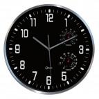 Orologio da parete Termo-Igro CEP - Ø30 cm - nero - 2114000011