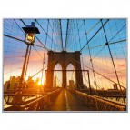 Quadro decorativo Paperflow - 60x80 cm - ponte di Brooklyn - orizzontale - K900388