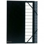 Classificatori Ordonator® A4 con elastici Exacompta - tasti numerici 1-32 - nero - 56032E