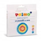 Pastelli a cera jumbo Primo - 29x28,5x15 cm - fasciati - assortiti - 052PC24MX (conf.24)