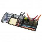 Desk organizer Mesh Alba - nero - 38x13x8,8 cm - MESHBOARD N