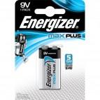 Pile alcaline Max Plus Energizer - 9V - transistor - E301323300