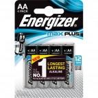 Pile alcaline Max Plus Energizer - AA - stilo - E301323600 (conf.4)