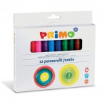 Pennarelli jumbo Primo - 38x28,5x12,5 cm - scatola cartone - assortiti - 603JUMBO12 (conf.12)