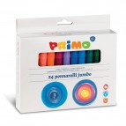 Pennarelli jumbo Primo - 38x28,5x12,5 cm - scatola cartone - assortiti - 604JUMBO24 (conf.24)
