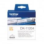 Brother - Rotolo - Nero/Bianco - 400 Etichette - 17 x 54mm