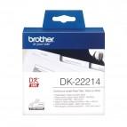Brother - Rotolo etichetta continua - Nero/Bianco - 12mm x 30,48mt