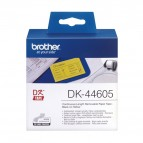 Brother - Nastro adesivo - rimovibile -Nero/Giallo - 62mm x  30,48mt