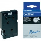 Brother - Nastro -  Bianco/Nero - TC201 - 12mm x7,7mt