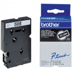 Brother - Nastro - Bianco/Nero - TC395 - 9mm x7,7mt