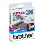 Brother - Nastro -  Bianco/Nero - TX221 - 9mm x7,7mt