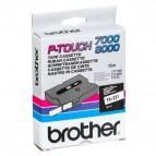 Brother - Nastro -  Bianco/Nero - TX221 - 9mm x7,7mt