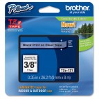 Brother - Nastro - Nero/Trasparente - TZ121 - 9mm x 8mt
