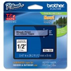 Brother - Nastro - Nero/Trasparente - TZE131 - 12mm x 8mt