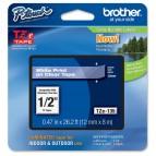 Brother - Nastro - Bianco/Trasparente - TZE135  12mm x 8mt