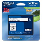 Brother - Nastro - Nero/Bianco - TZE231 - 12mm x 8mt