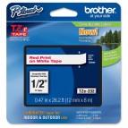 Brother - Nastro - Rosso/Bianco -TZE222 -12mm x 8mt