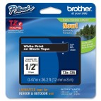 Brother - Nastro - Bianco/Nero - TZE335 - 12mm x 8mt