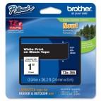 Brother - Nastro - Bianco/Nero - TZE355 - 24mm x 8mt