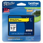 Brother - Nastro -  Nero/Giallo - TZE631 - 12mm x 8mt