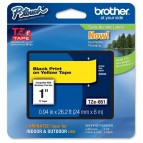 Brother - Nastro -  Nero/Giallo - TZE651 - 24mm x 8mt