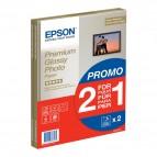 Epson - Premium Glossy Photo Paper - A4 - 2x 15 Fogli - C13S042169
