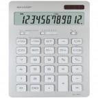 Calcolatrice da tavolo EL 364 - 176x100x13 mm - 12 cifre - argento - Sharp - EL364BSL